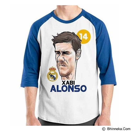 ORDINAL Raglan Football Player Xabi Alonso Size XL (Merchant) - Kaos Pria