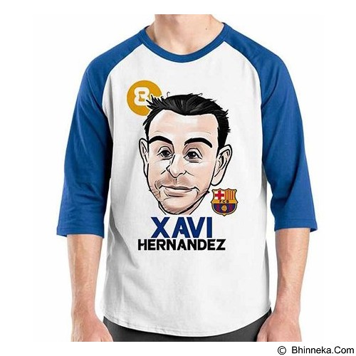 ORDINAL Raglan Football Player Xavi 02 Size XL (Merchant) - Kaos Pria