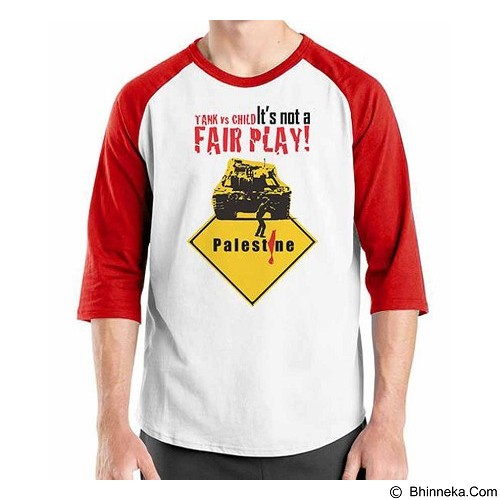 ORDINAL Raglan Freedom Palestine Fair Play Size M (Merchant) - Kaos Pria