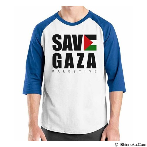 ORDINAL Raglan Freedom Palestine Save Gaza Size ML (Merchant) - Kaos Pria