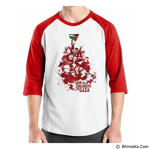 ORDINAL Raglan Freedom Palestine Save The Childrens Size S (Merchant) - Kaos Pria