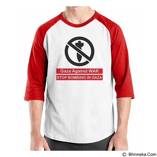 ORDINAL Raglan Freedom Palestine Stop Bombing In Gaza Size ML (Merchant) - Kaos Pria