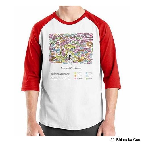 ORDINAL Raglan Geek Diagram Size XL (Merchant) - Kaos Pria
