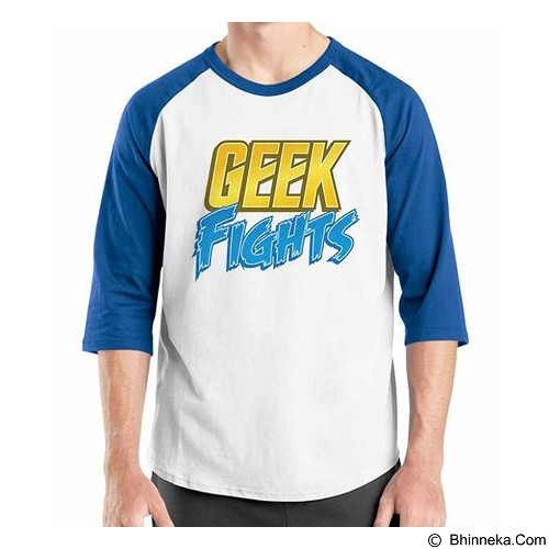 ORDINAL Raglan Geek Fight Size L (Merchant) - Kaos Pria