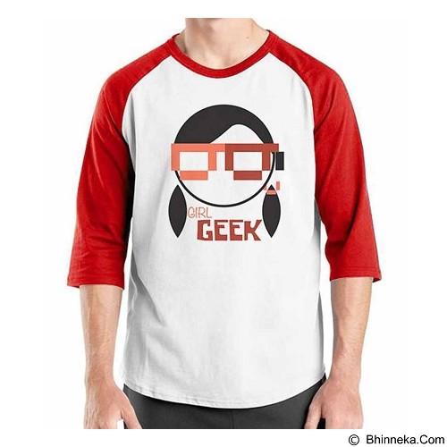 ORDINAL Raglan Girl Geek Size L (Merchant) - Kaos Pria