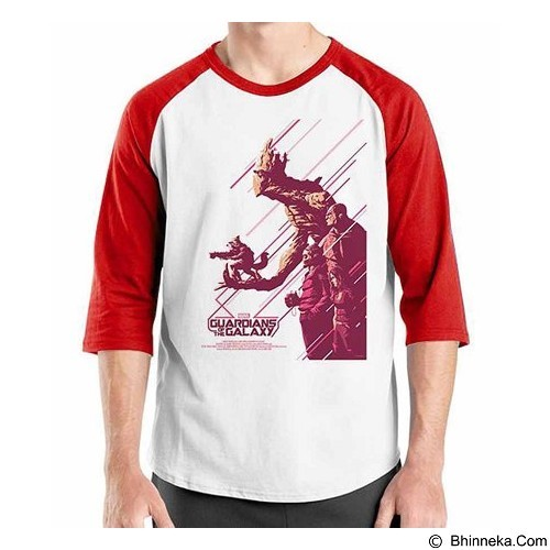 ORDINAL Raglan Guardian of The Galaxy 03 Size XL (Merchant) - Kaos Pria