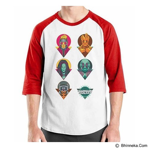 ORDINAL Raglan Guardian of The Galaxy 05 Size M (Merchant) - Kaos Pria