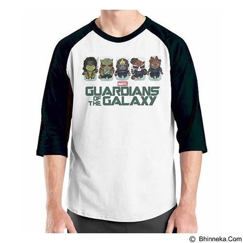 ORDINAL Raglan Guardian of The Galaxy 11 Size XL (Merchant) - Kaos Pria