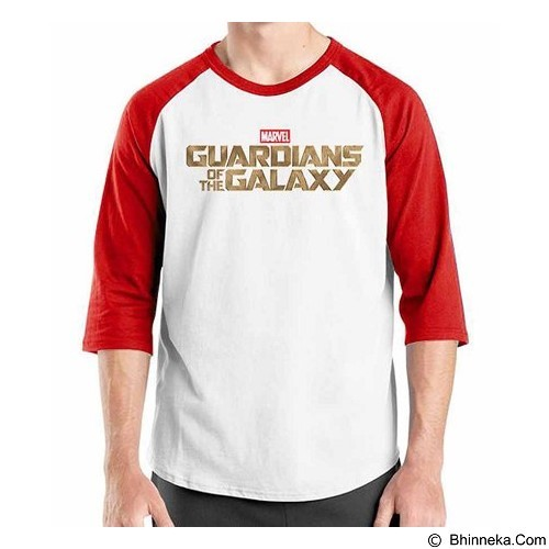 ORDINAL Raglan Guardian of The Galaxy Logo Size ML (Merchant) - Kaos Pria