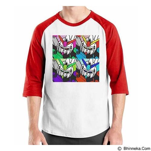 ORDINAL Raglan Gundam Pop Art Size XL (Merchant) - Kaos Pria