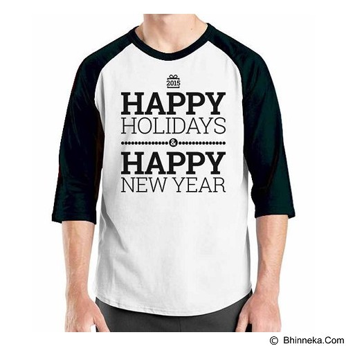 ORDINAL Raglan Happy New Year 04 Size L (Merchant) - Kaos Pria