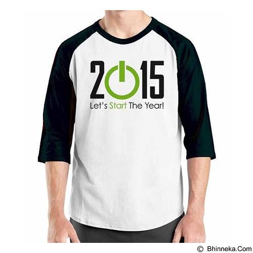 ORDINAL Raglan Happy New Year 11 Size XL (Merchant) - Kaos Pria