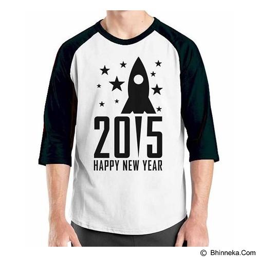 ORDINAL Raglan Happy New Year 13 Size L (Merchant) - Kaos Pria