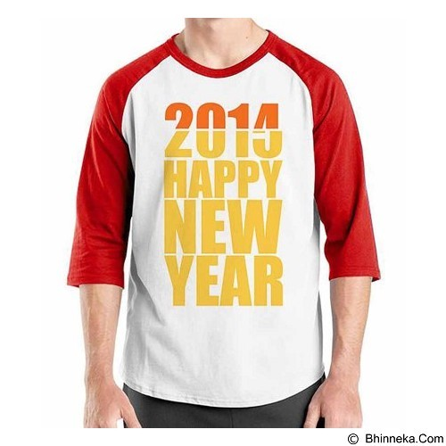 ORDINAL Raglan Happy New Year 15 Size XXL (Merchant) - Kaos Pria