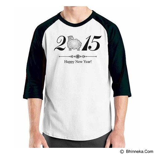 ORDINAL Raglan Happy New Year 16 Size ML (Merchant) - Kaos Pria