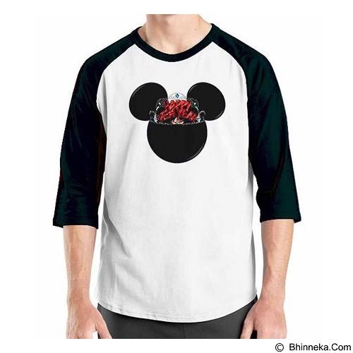 ORDINAL Raglan Happy New Year Mickey Size ML (Merchant) - Kaos Pria