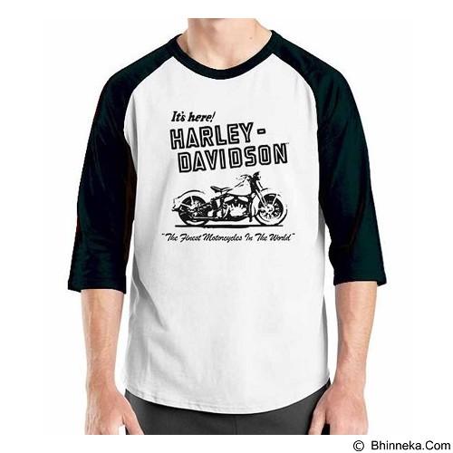 ORDINAL Raglan Harley Davidson 01 Size ML (Merchant) - Kaos Pria
