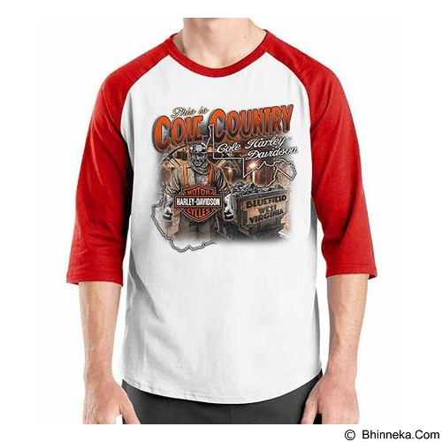 ORDINAL Raglan Harley Davidson 03 Size L (Merchant) - Kaos Pria