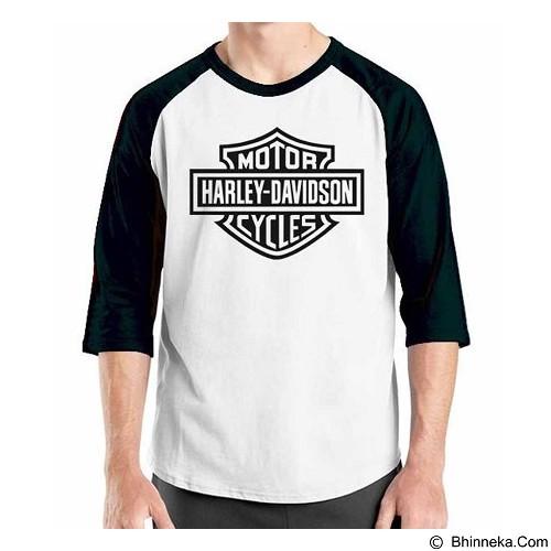 ORDINAL Raglan Harley Davidson Logo 01 Size XXL (Merchant) - Kaos Pria