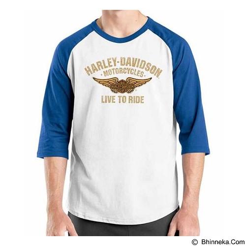 ORDINAL Raglan Harley Davidson Logo 02 Size XL (Merchant) - Kaos Pria