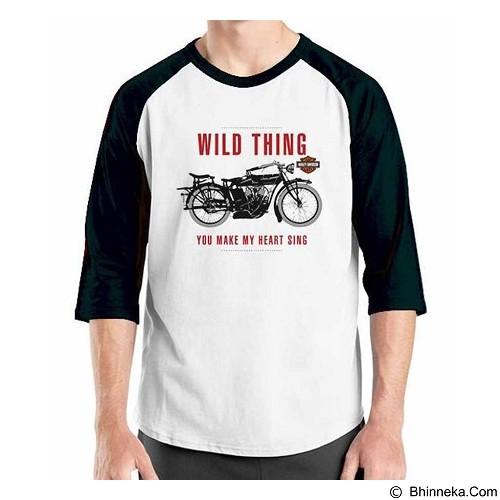 ORDINAL Raglan Harley Davidson Wild Thing Size S (Merchant) - Kaos Pria
