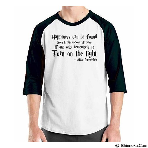 ORDINAL Raglan Harry Potter Series Dumbledor Quotes Size M (Merchant) - Kaos Pria