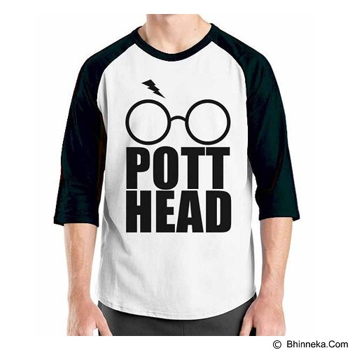 ORDINAL Raglan Harry Potter Series Pott Head Size ML (Merchant) - Kaos Pria