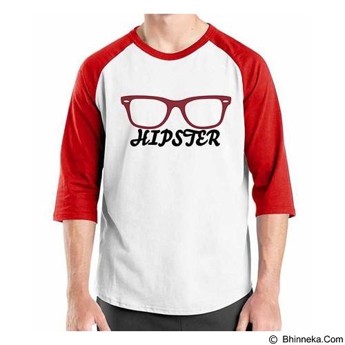ORDINAL Raglan Hipster Glasses Size M (Merchant) - Kaos Pria