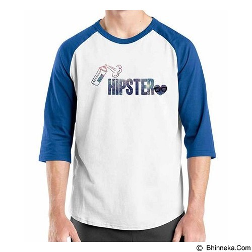 ORDINAL Raglan Hipster Love Size ML (Merchant) - Kaos Pria