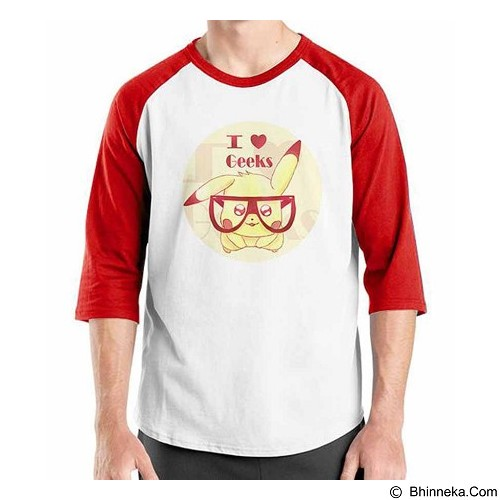 ORDINAL Raglan I Love Geek Size XL (Merchant) - Kaos Pria