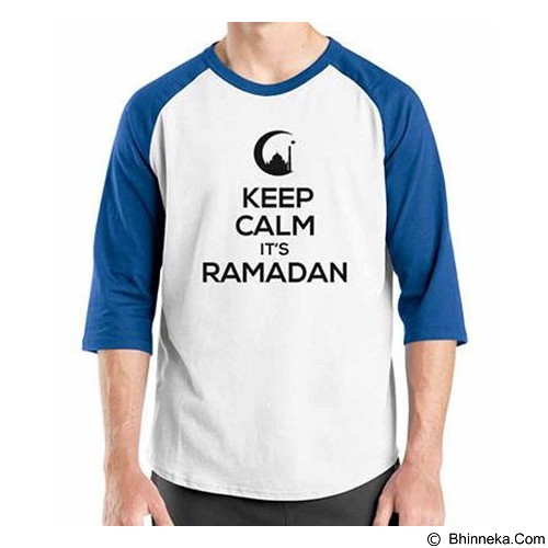 ORDINAL Raglan Keep Calm It's Ramadan Size S (Merchant) - Kaos Pria