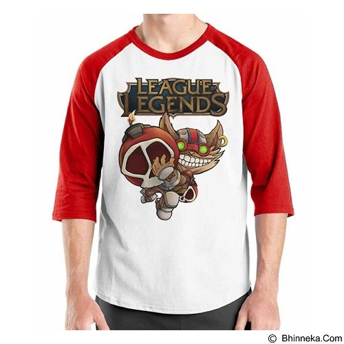 ORDINAL Raglan League Of Legends 02 Size XXL (Merchant) - Kaos Pria