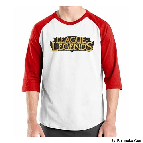 ORDINAL Raglan League Of Legends Logo 01 Size ML (Merchant) - Kaos Pria