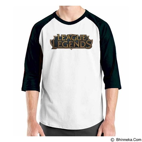 ORDINAL Raglan League Of Legends Logo 02 Size S (Merchant) - Kaos Pria