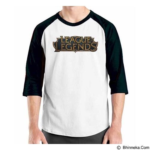 ORDINAL Raglan League Of Legends Logo 02 Size S (Merchant) - Kaos Pria
