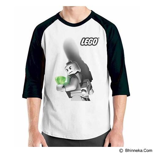 ORDINAL Raglan Lego 2 Size L (Merchant) - Kaos Pria