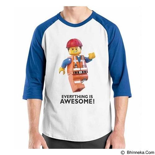 ORDINAL Raglan Lego Awesome Size S (Merchant) - Kaos Pria