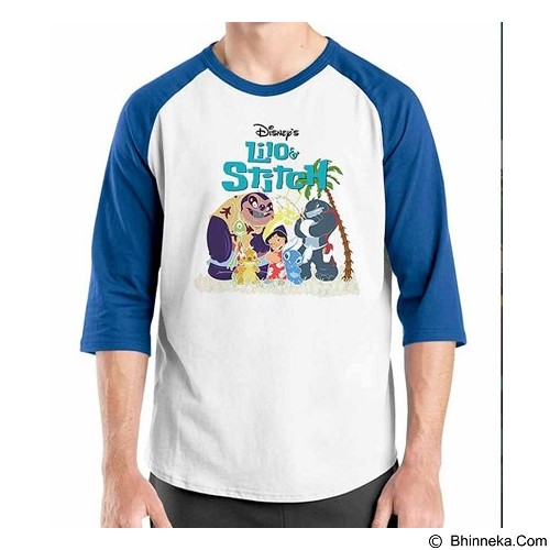 ORDINAL Raglan Lilo and Stitch 01 Size M (Merchant) - Kaos Pria