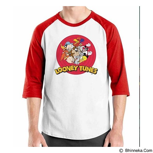 ORDINAL Raglan Looney Tunes Size ML (Merchant) - Kaos Pria