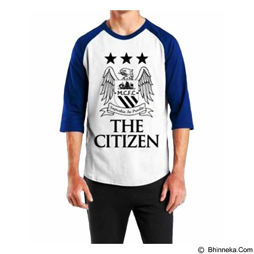 ORDINAL Raglan Manchester City 01 Size ML (Merchant) - Kaos Pria