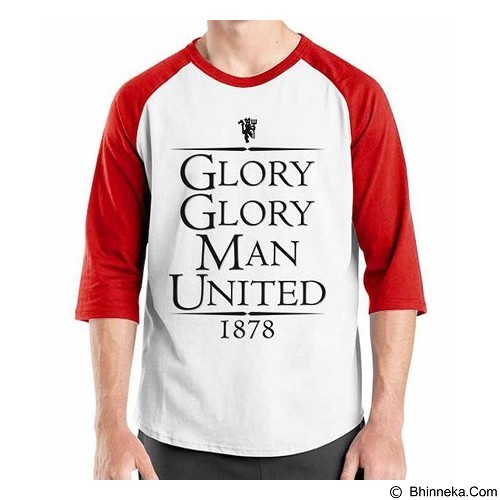 ORDINAL Raglan Manchester United Edition 03 Size ML (Merchant) - Kaos Pria