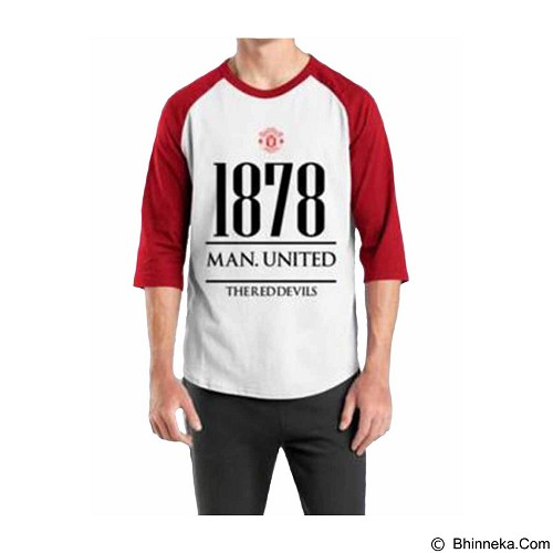 ORDINAL Raglan Manchester United Year Size XL (Merchant) - Kaos Pria
