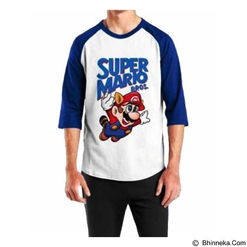 ORDINAL Raglan Mario 01 Size XL (Merchant) - Kaos Pria