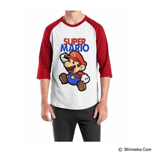 ORDINAL Raglan Mario 02 Size M (Merchant) - Kaos Pria