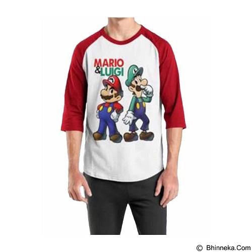ORDINAL Raglan Mario & Luigi 01 Size XL (Merchant) - Kaos Pria