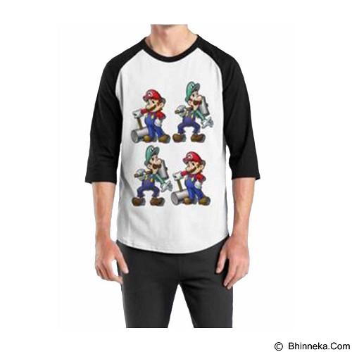 ORDINAL Raglan Mario & Luigi 02 Size XXL (Merchant) - Kaos Pria