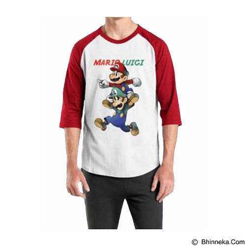ORDINAL Raglan Mario & Luigi 03 Size M (Merchant) - Kaos Pria
