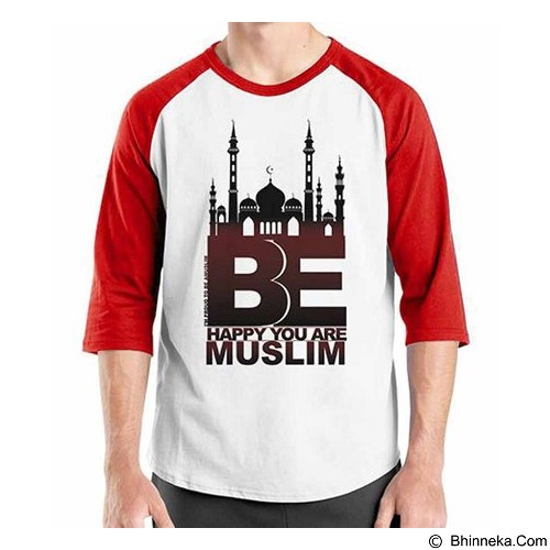 ORDINAL Raglan Muslim Series Be Happy U Are Muslim Size XXL (Merchant) - Kaos Pria