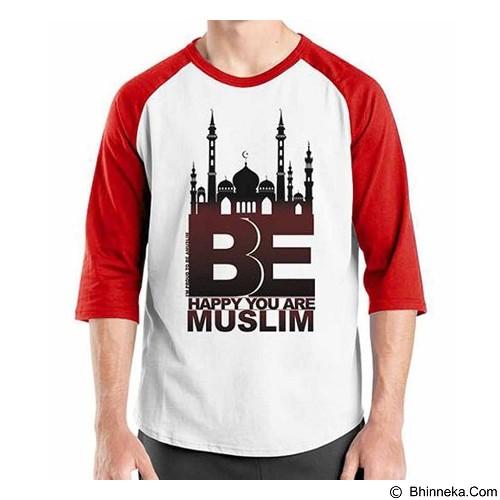 ORDINAL Raglan Muslim Series Be Happy U Are Muslim Size XXL (Merchant) - Kaos Pria