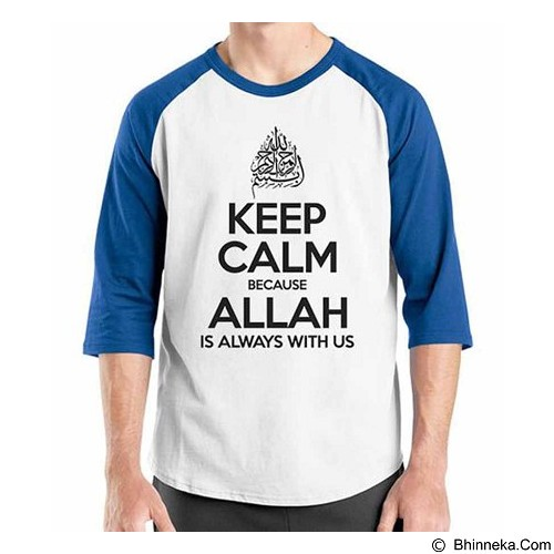 ORDINAL Raglan Muslim Series Keep Calm To Allah Size XL (Merchant) - Kaos Pria